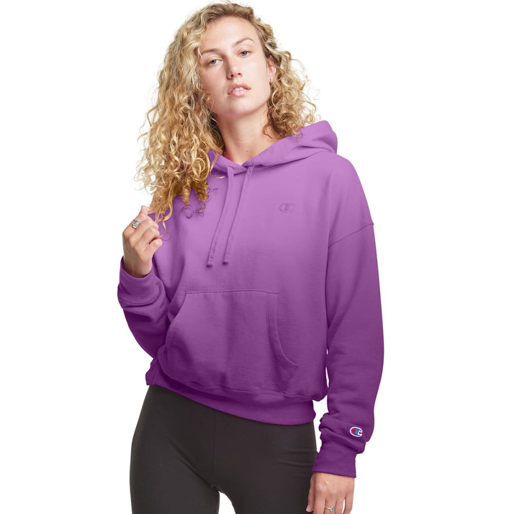 CHAMPION Women's Powerblend Ombre Cropped Hoodie S