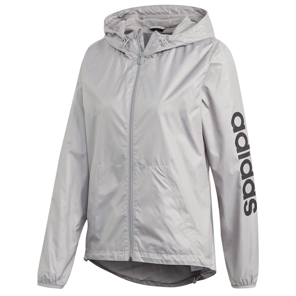 ADIDAS Women's Essential Linear Windbreaker Jacket L