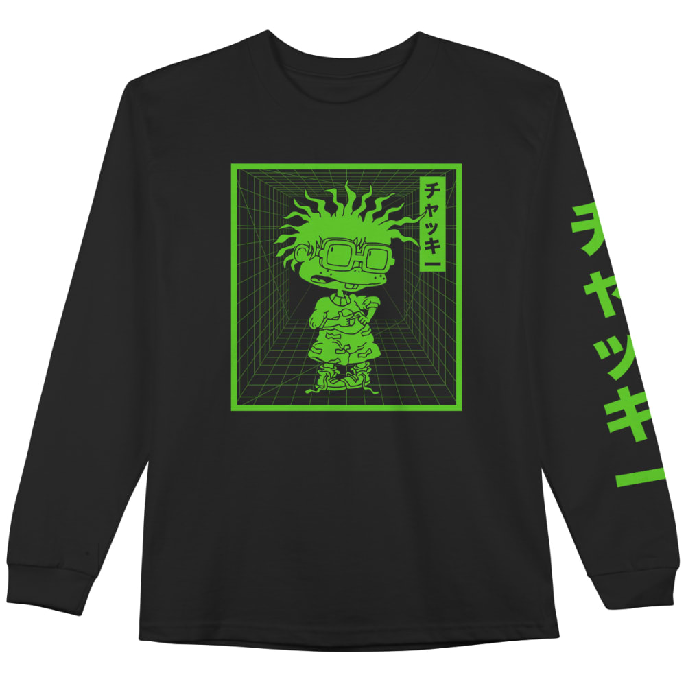 RUGRATS Men's Chuckie Long Sleeve Graphic Tee XS