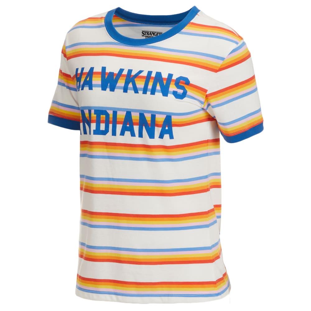 HAWKINS INDIANA Juniors' Short-Sleeve Graphic Tee S