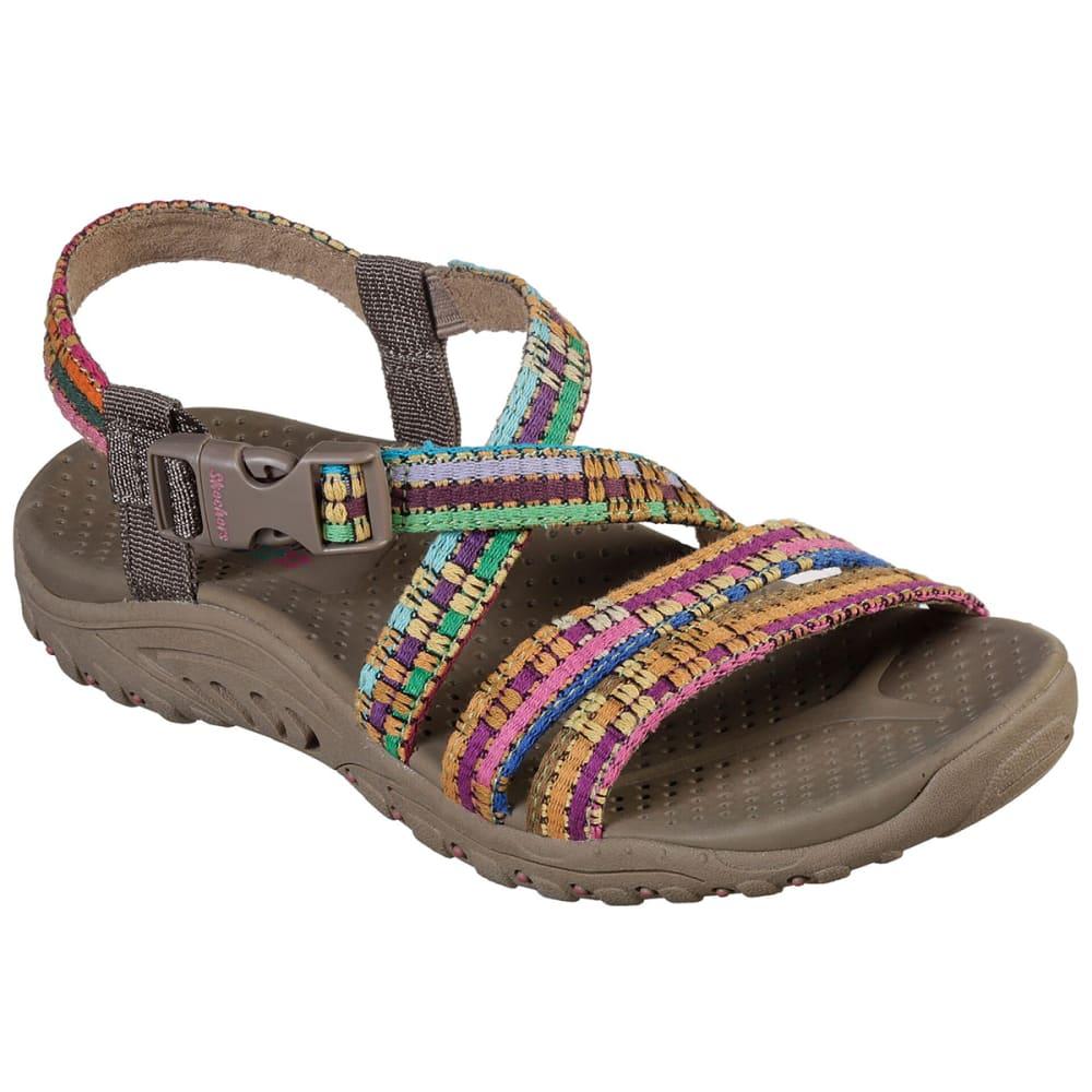SKECHERS Women's Reggae-Sew Me Sandal 6