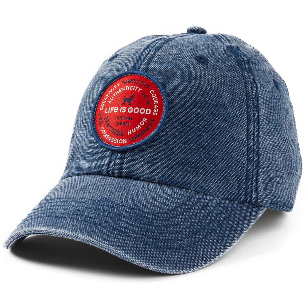 LIFE IS GOOD Superpowers Dog Sunworn Chill Cap ONE SIZE