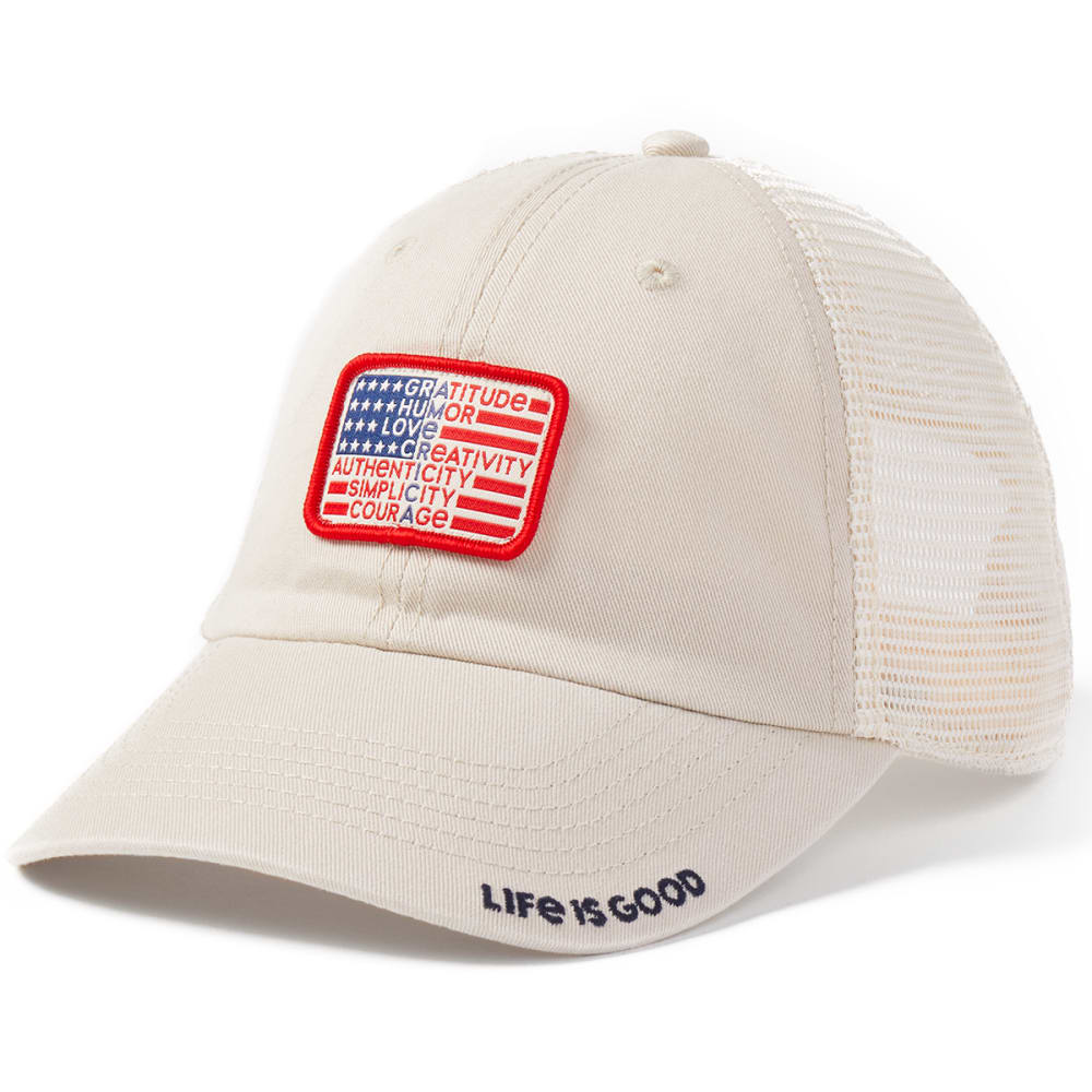 LIFE IS GOOD Superpower Flag Cap ONE SIZE