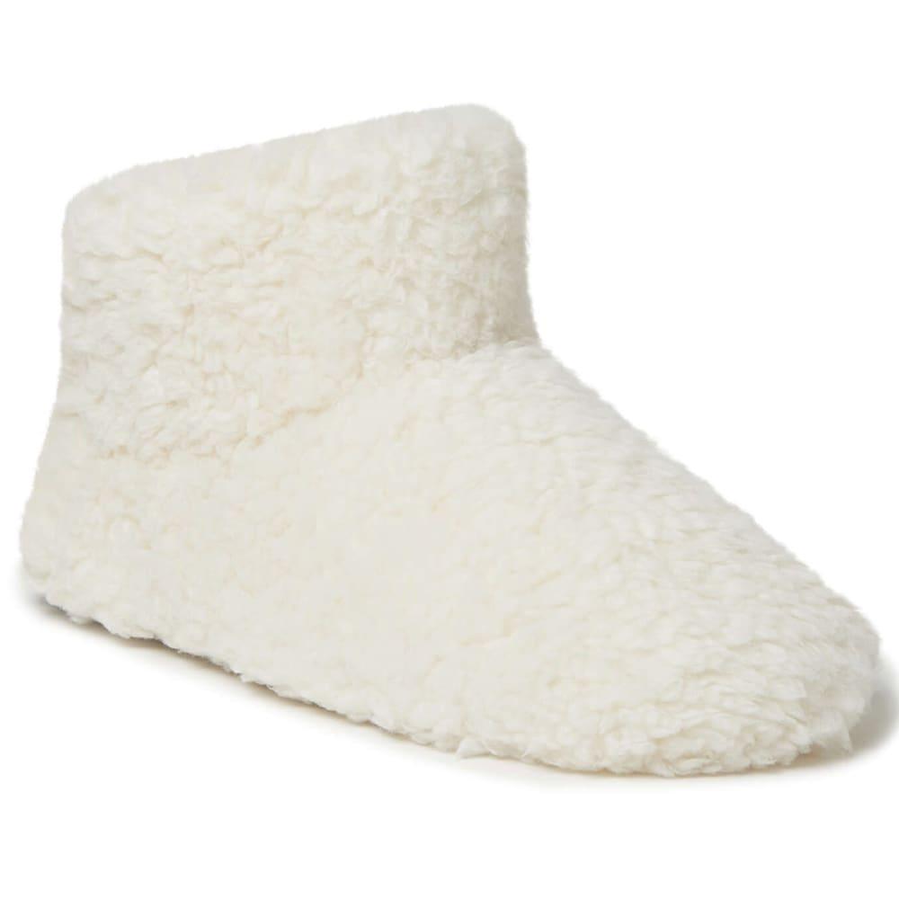 FAMOUS MAKER Women's Fluffy Sherpa Bootie Slipper S