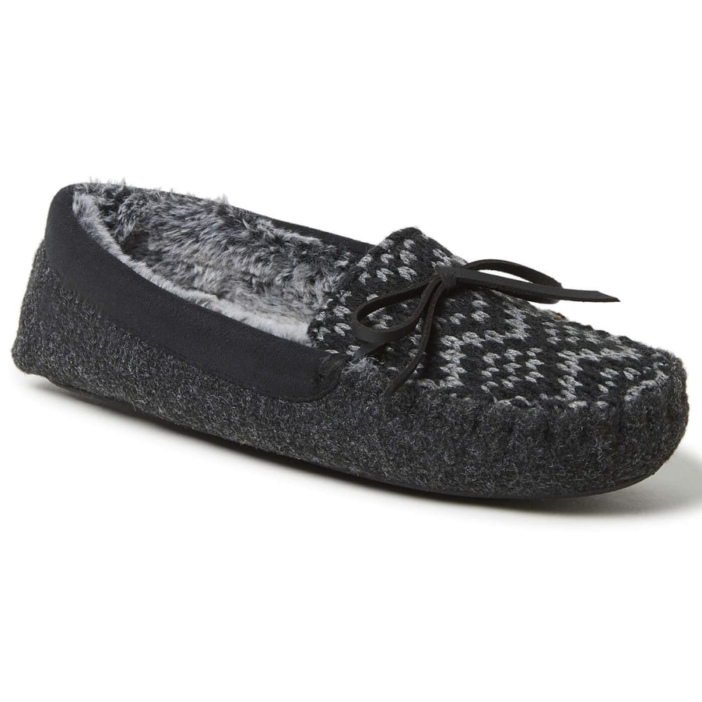 FAMOUS MAKER Women's Felted Microwool and Fairisle Knit Moccasin XL