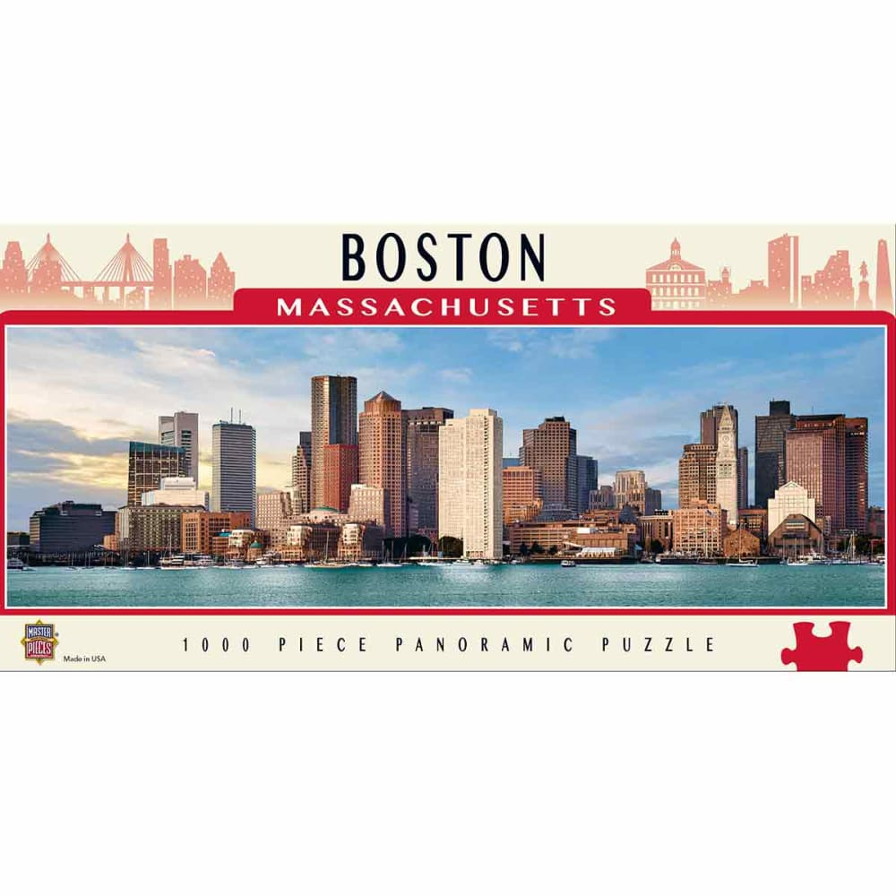 MASTERPIECES PUZZLE CO. Cityscapes Boston 1000-Piece Panoramic Jigsaw Puzzle NO SIZE