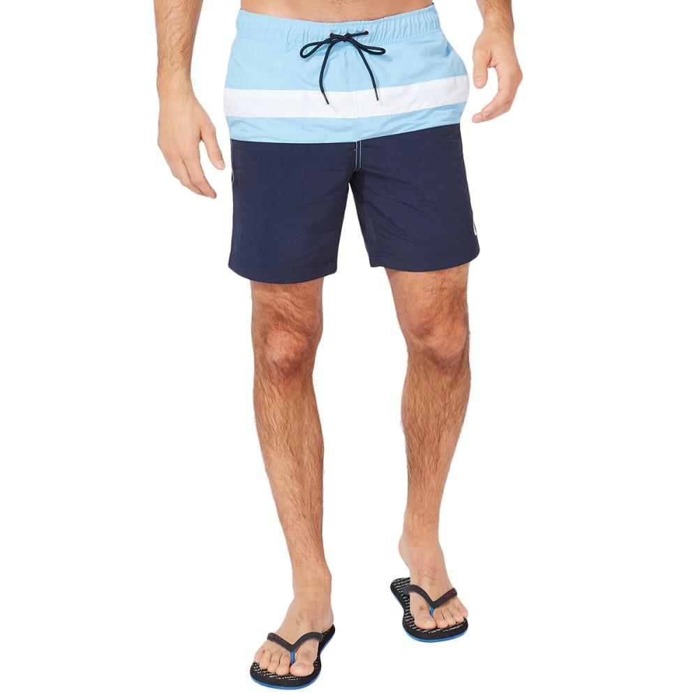 """NAUTICA 8"""" Men's Colorblock Swim Short M"""