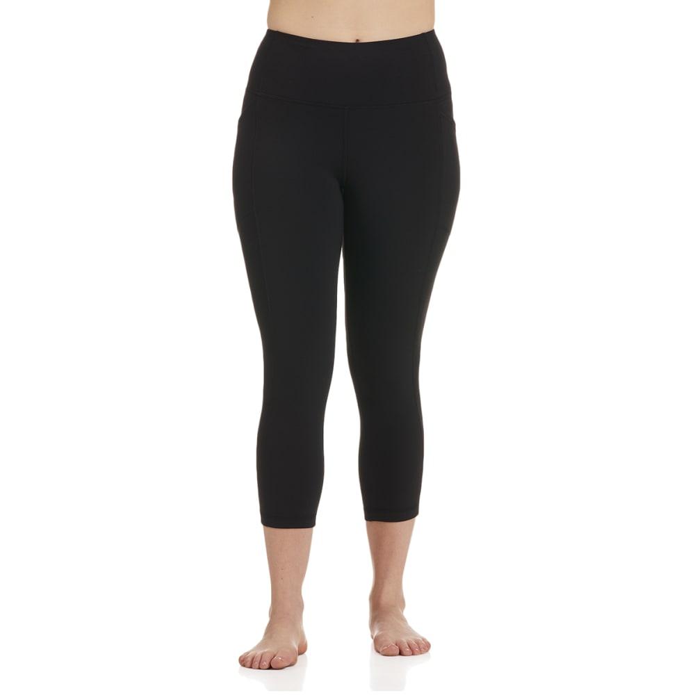RBX Women's Double Peach Capri Leggings w/ Pockets S