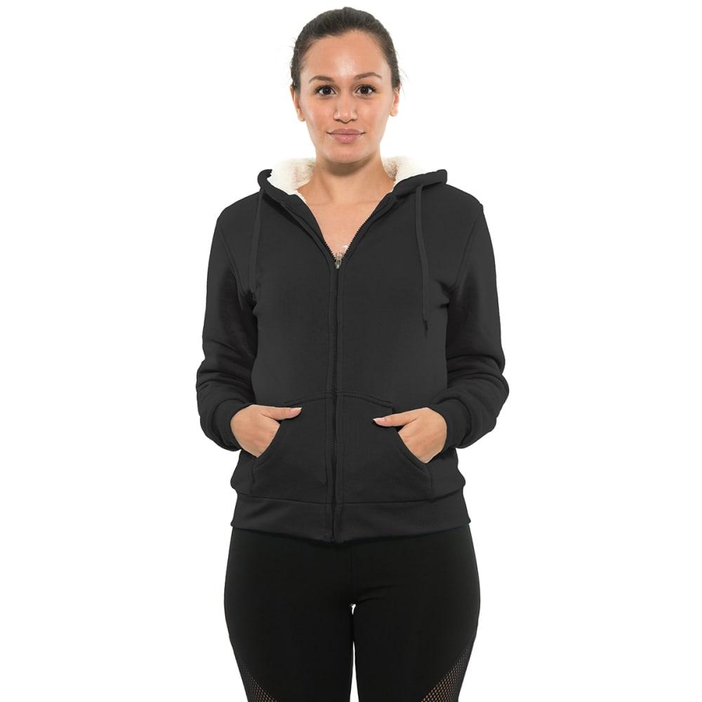 BSP Women's Sherpa-Lined Full Zip Fleece Hoodie S
