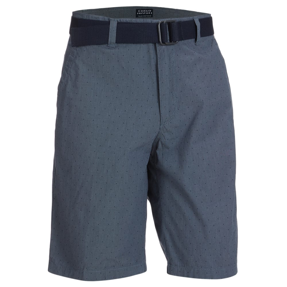 CARGO SUPPLIES Men's Flat Front Belted Shorts 44