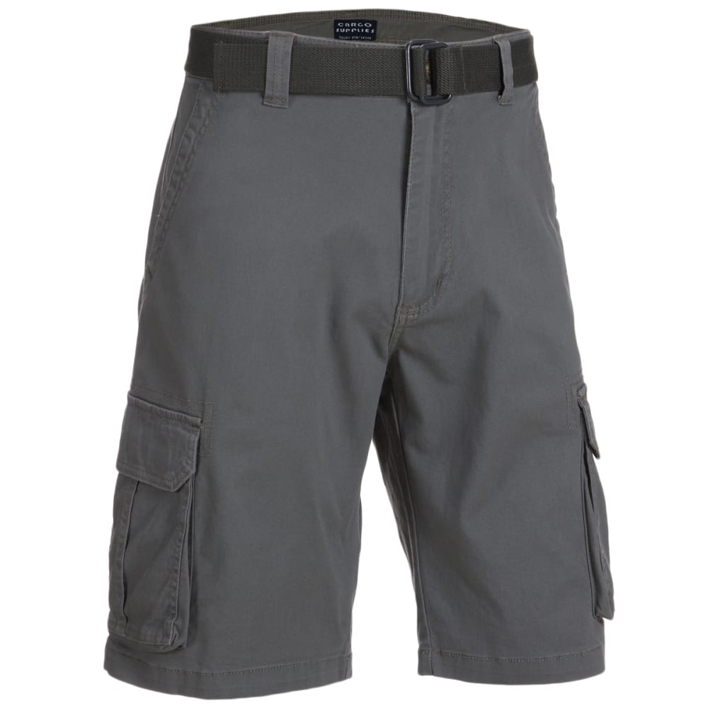 CARGO SUPPLIES Men's Belted Cargo Shorts 30