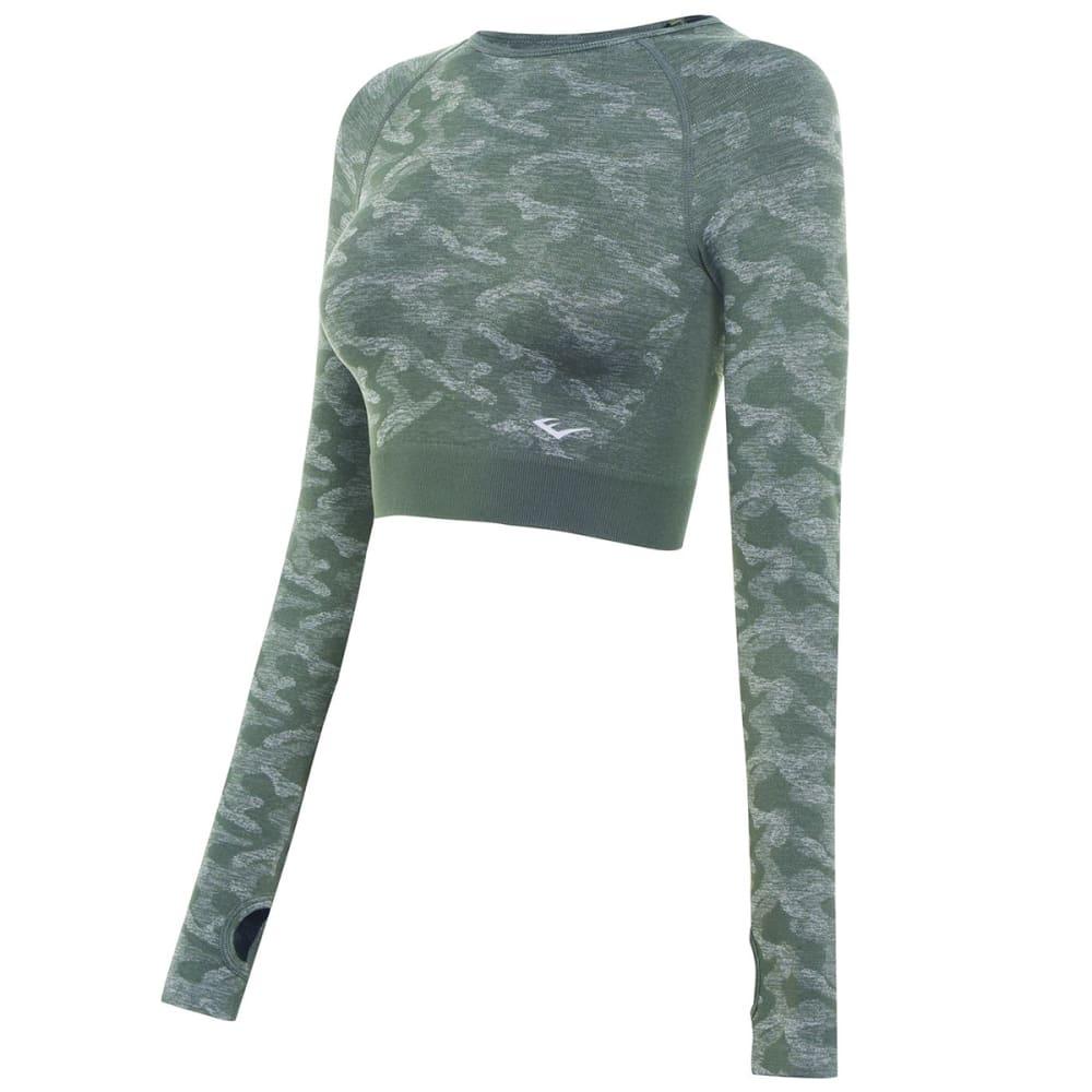 EVERLAST Women's Camo Long Sleeve Crop Top 4