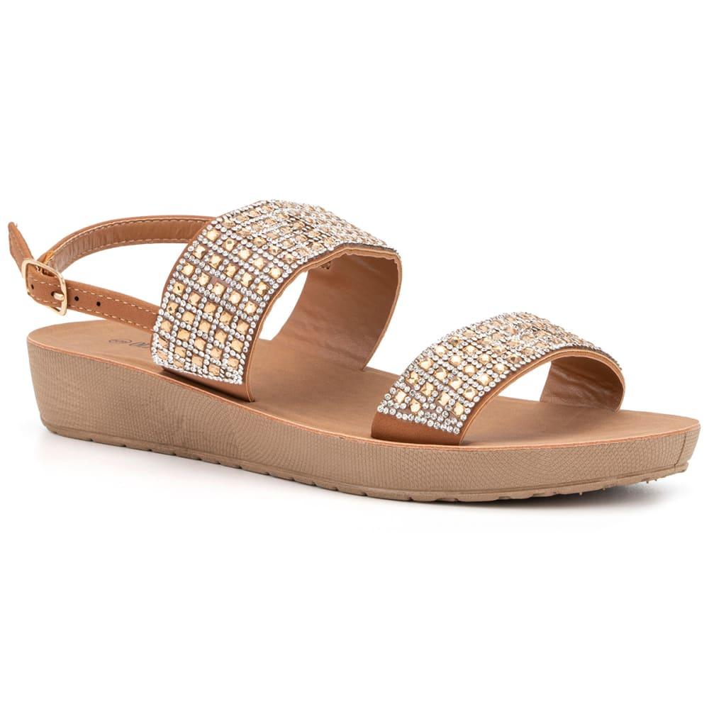 OLIVIA MILLER Women's Two Strap Sandals 6
