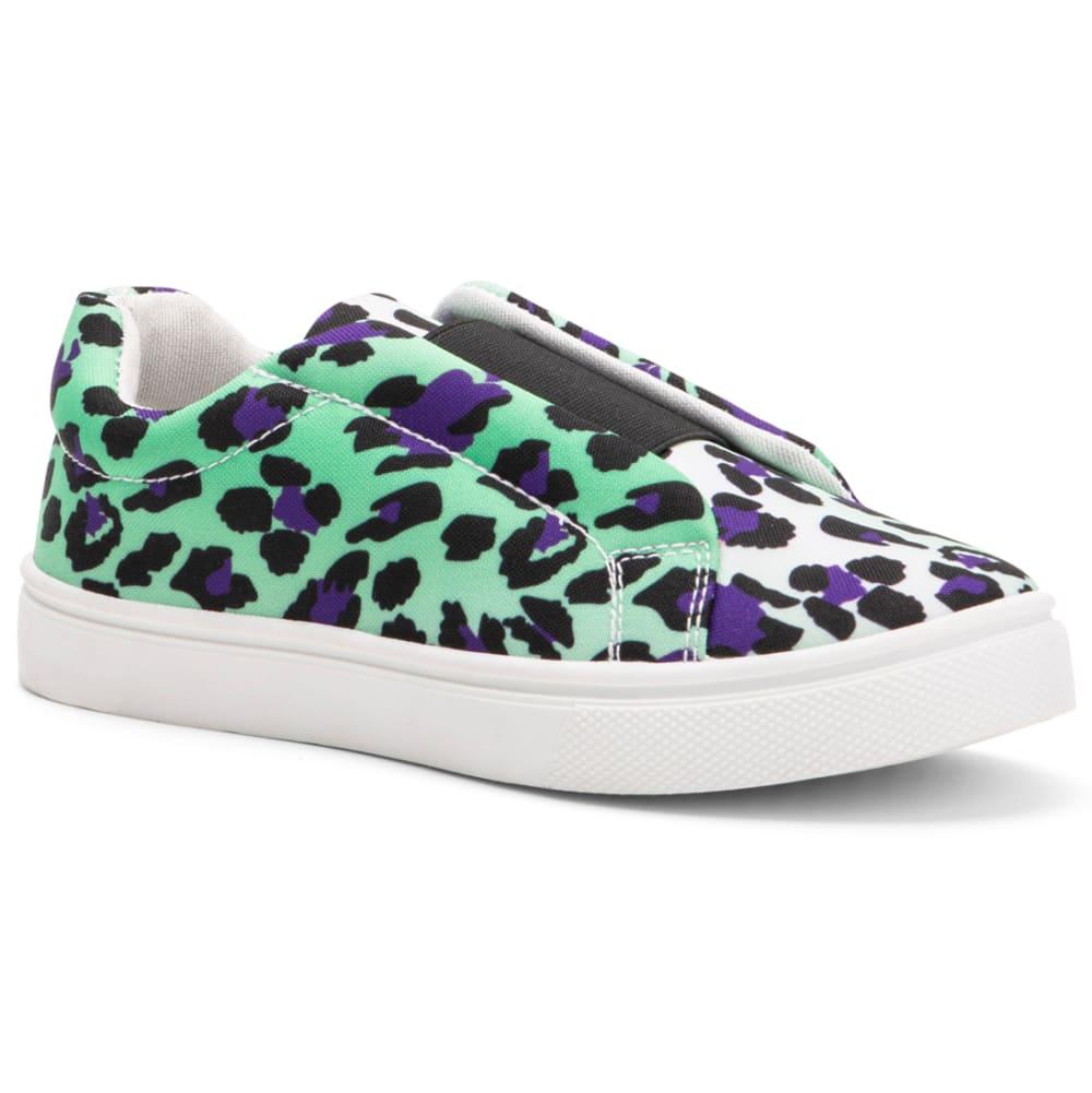 OLIVIA MILLER Girls' Leopard Print Slip-On Sneakers 1