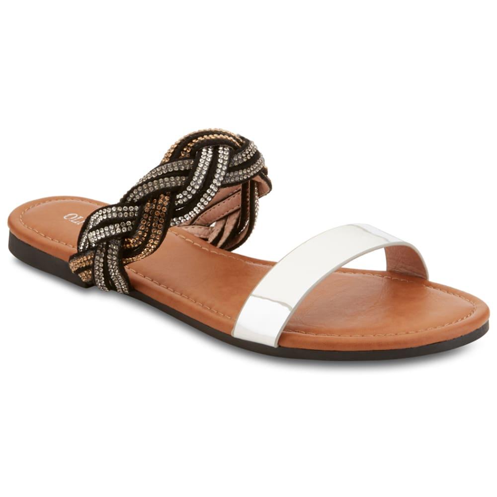 OLIVIA MILLER Women's Braided Slide Sandal 6
