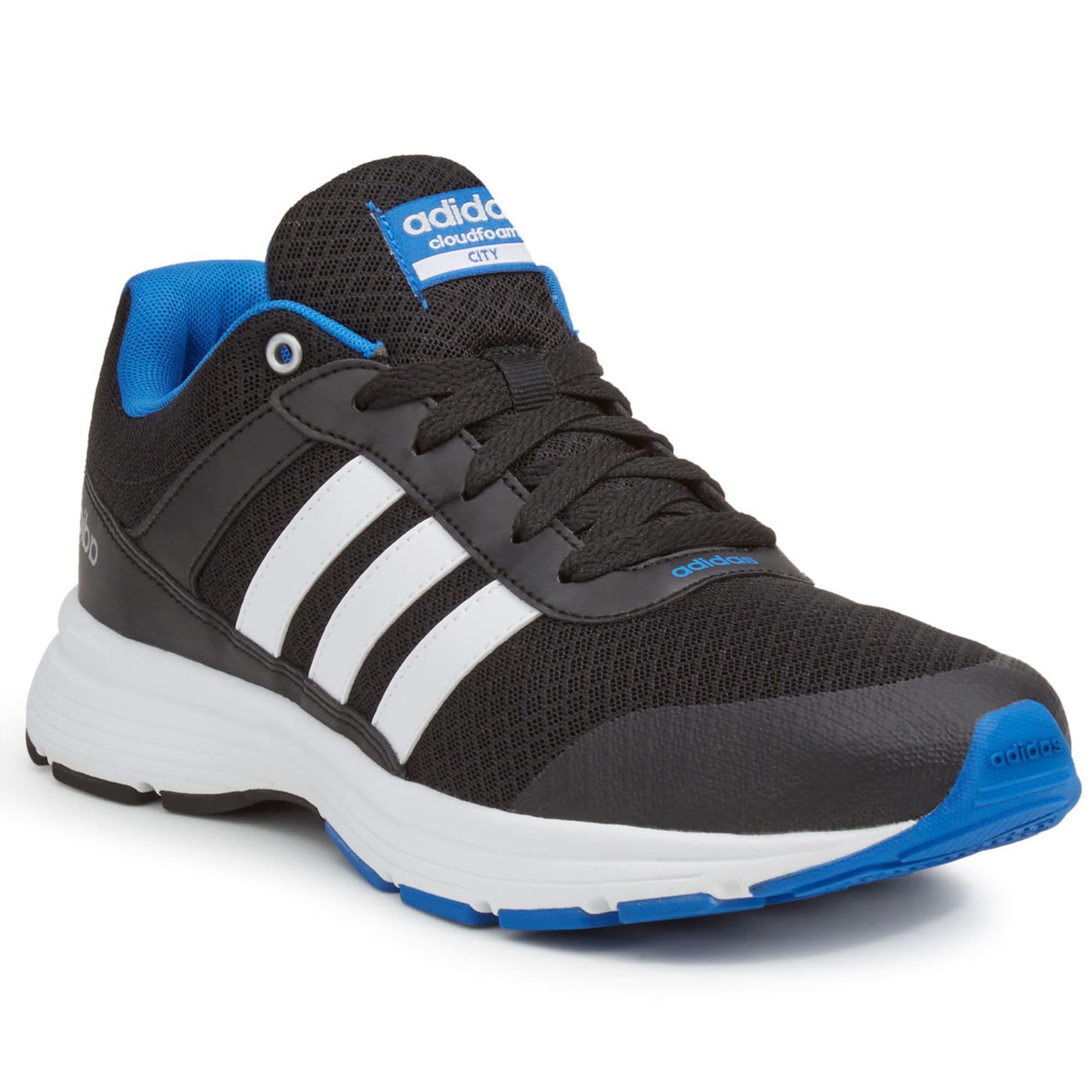 ADIDAS Men's Cloudfoam VS City Running Shoes, Black/Blue