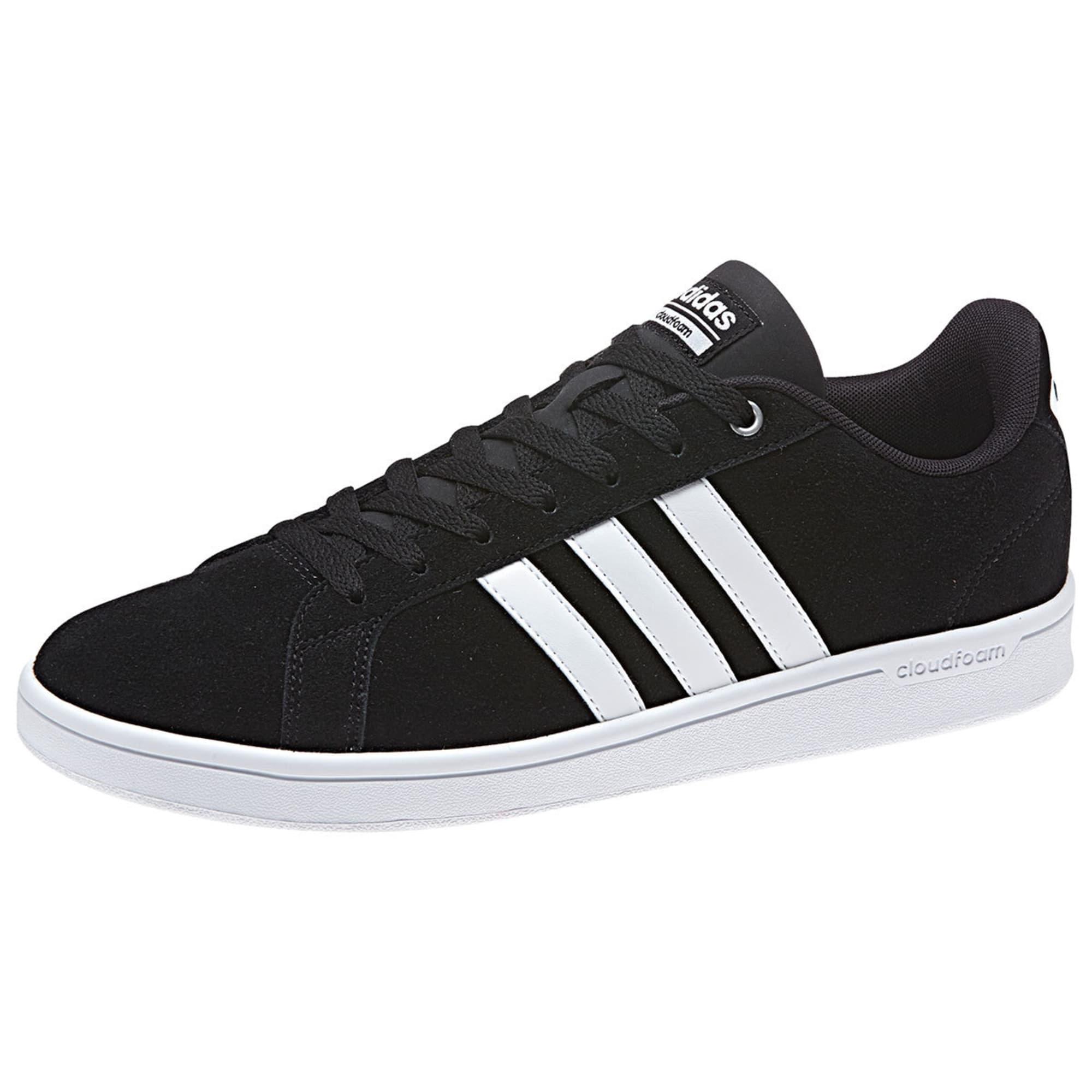 ADIDAS Men's Neo Cloudfoam Advantage Skate Shoes, Black/White/Silver