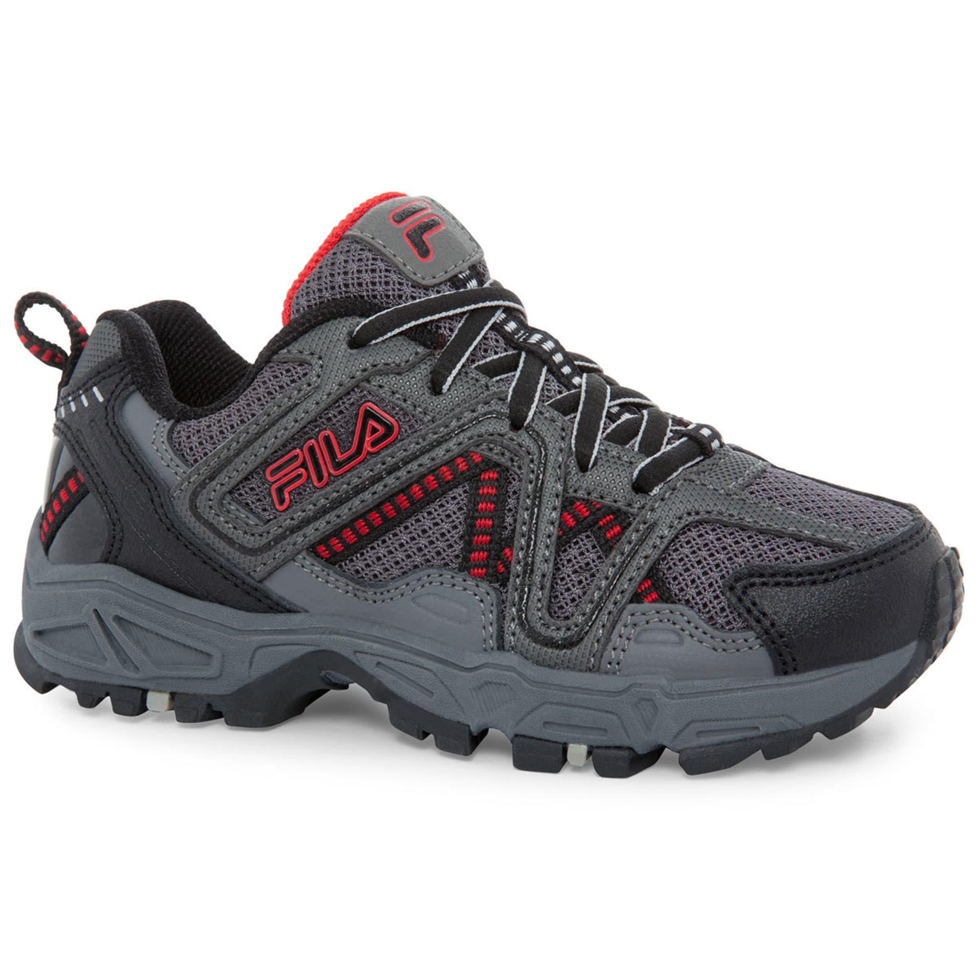 FILA Boys' Ascente 15 Running Shoes, BlackGreyRed Bob's