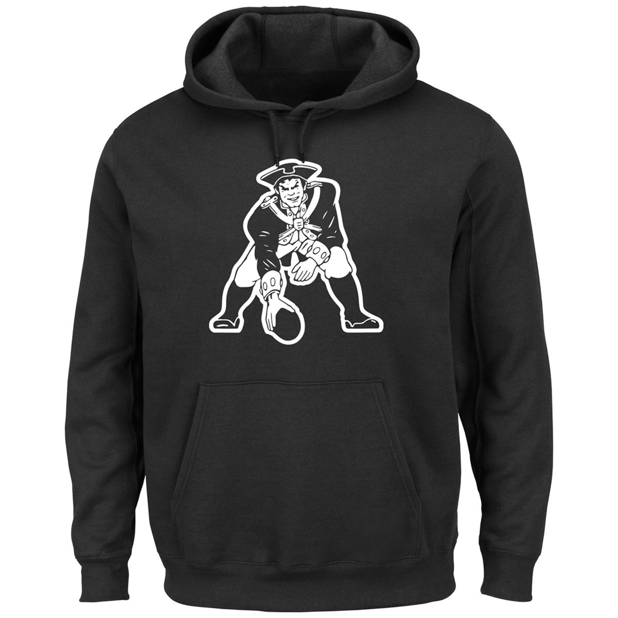 cheaper b7d11 06fc3 NEW ENGLAND PATRIOTS Men's Black and White Pat The Patriot Pullover Hoodie