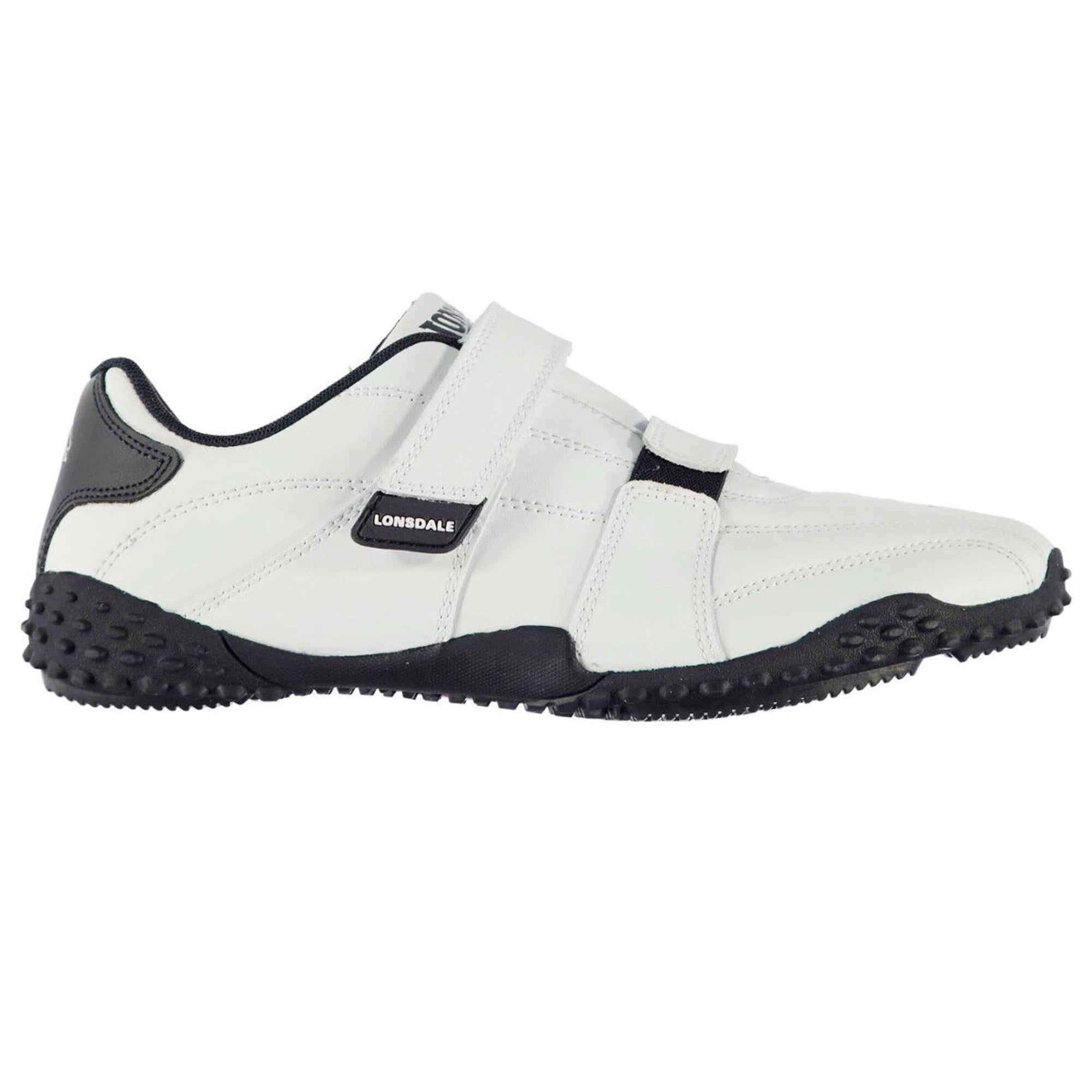 LONSDALE FULHAM LEATHER VEL TRAINER JUNIOR SHOES SNEAKER RUNNING WALKING CASUAL