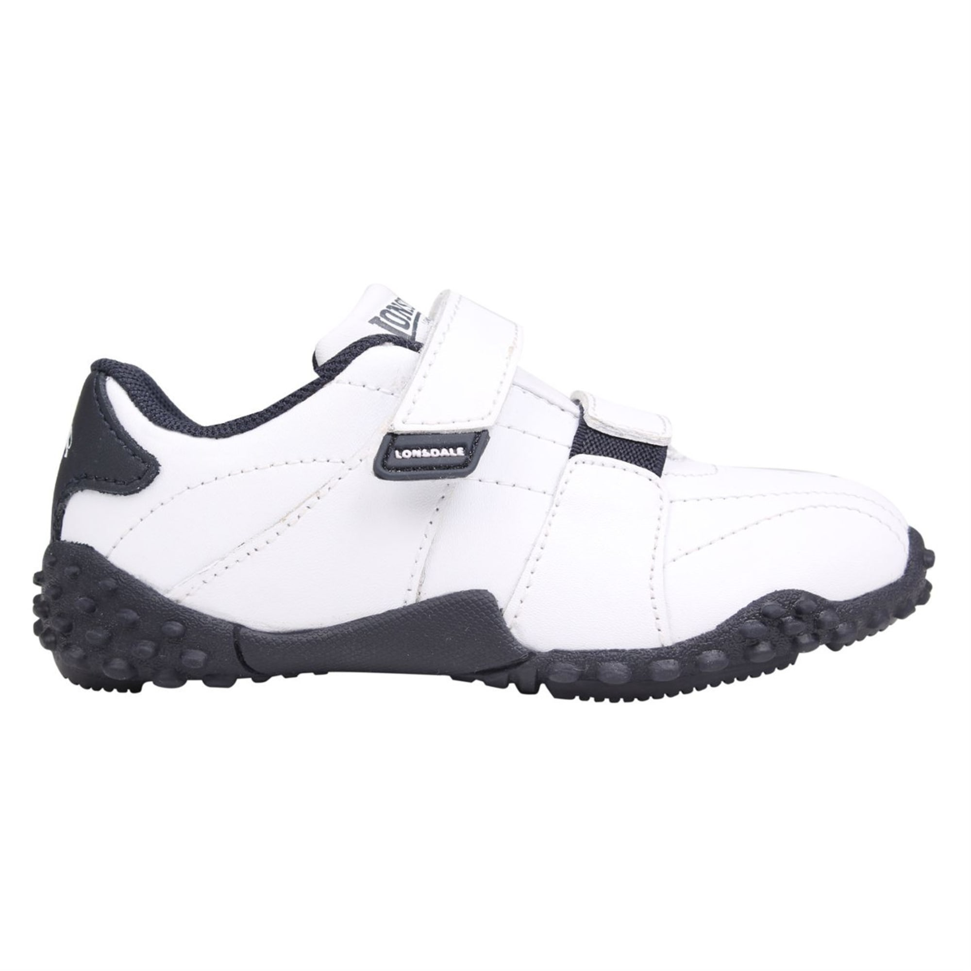 Lonsdale Kids Childrens Fulham Trainers Sports Padded Ankle Leather Footwear