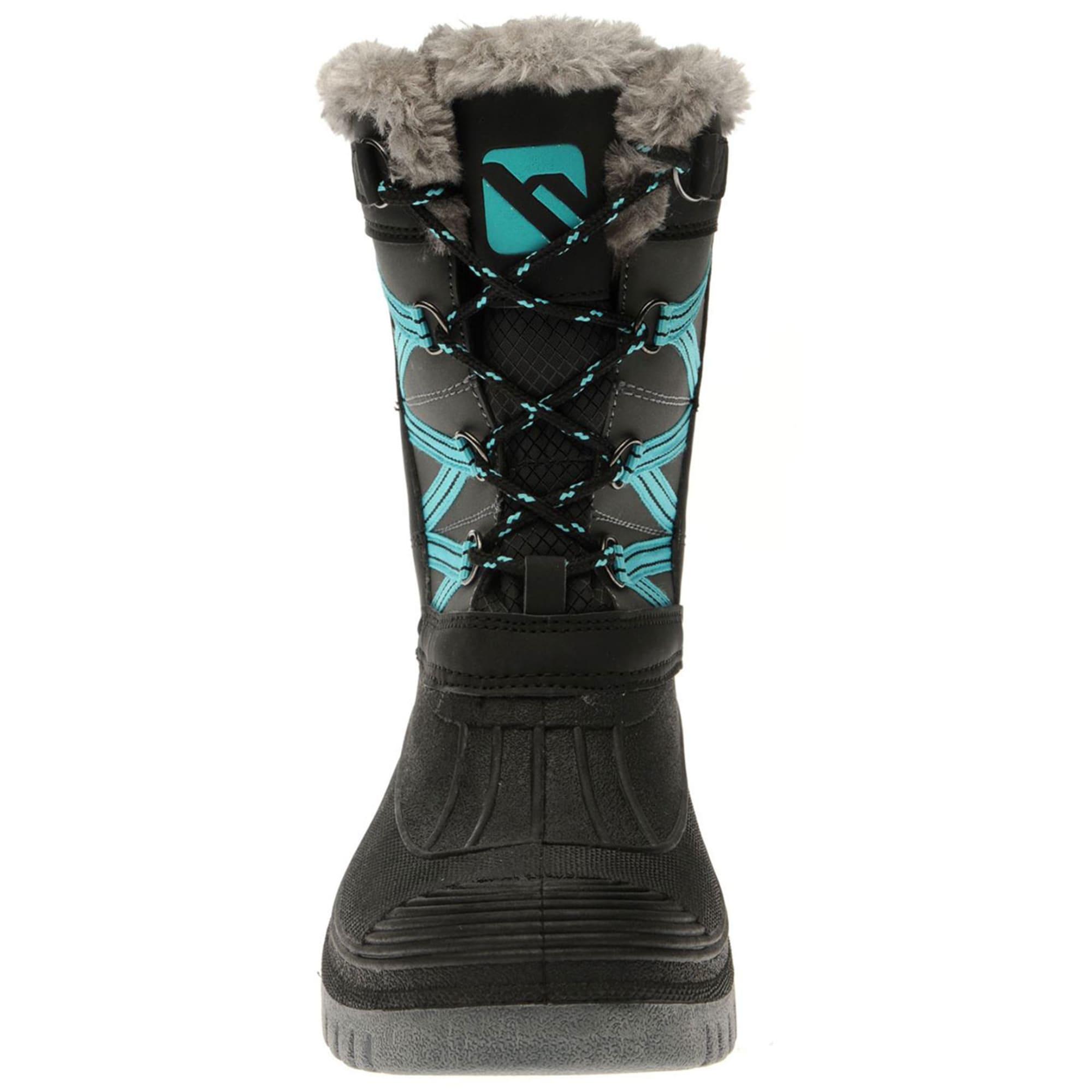 CAMPRI Women's Mid Snow Boots, BlackTeal Bob's Stores