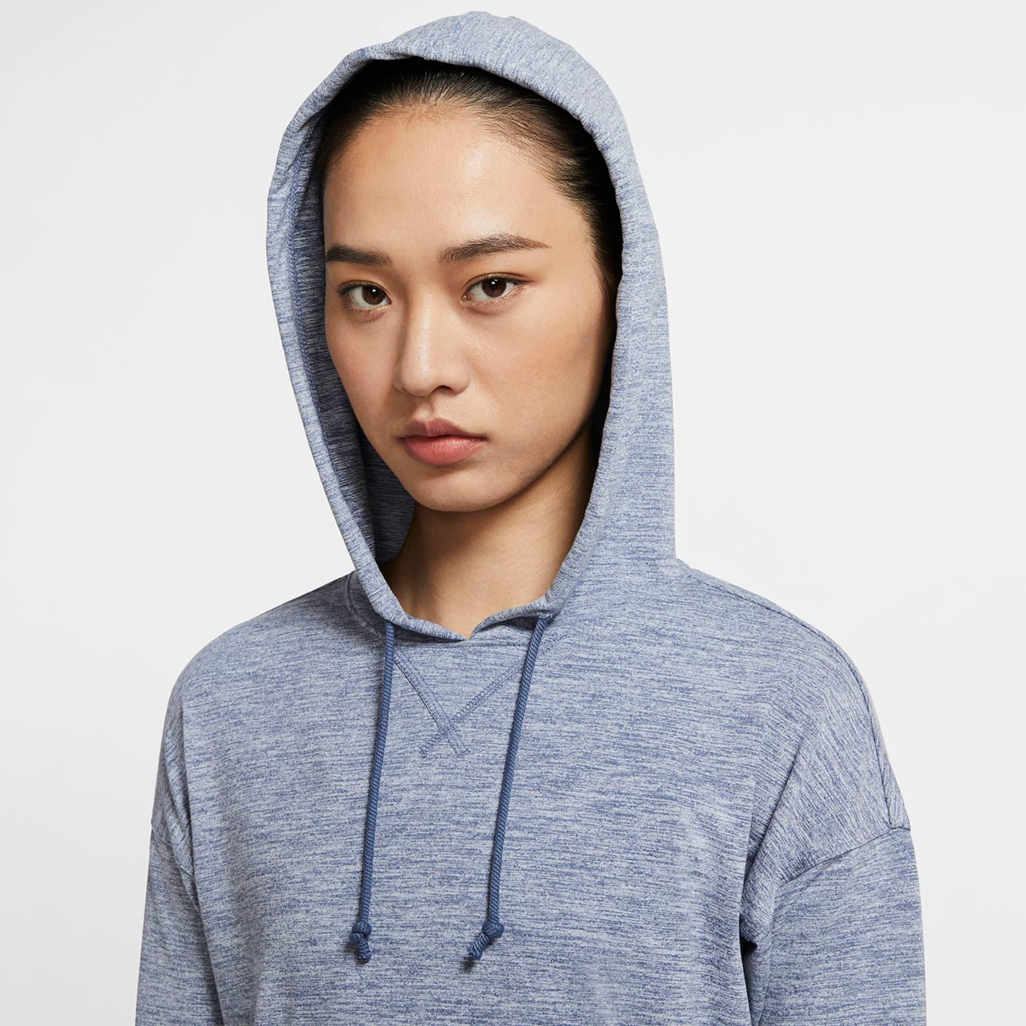 Nike Women S Yoga Jersey Crop Hoodie Bob S Stores