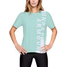 939db7db5f UNDER ARMOUR Women's UA Girlfriend Wordmark Crew Short-Sleeve Tee