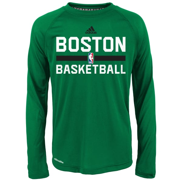detailed look 85fd1 5a75c BOSTON CELTICS Boys' Practice Wear Long-Sleeve Tee - Bob's ...