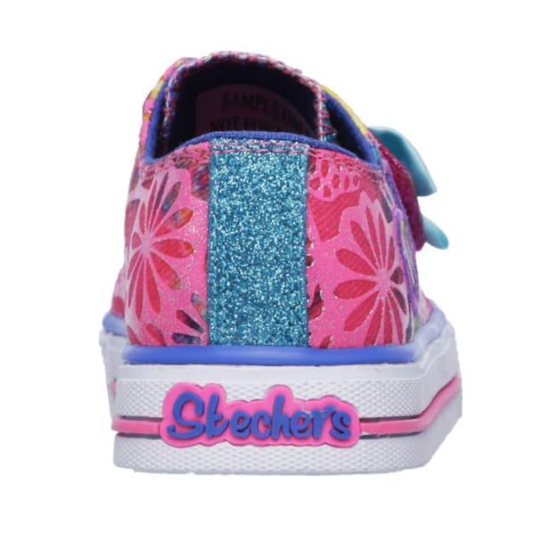 SKECHERS Girls' Twinkle Toes: Shuffles Baby Love Sneakers