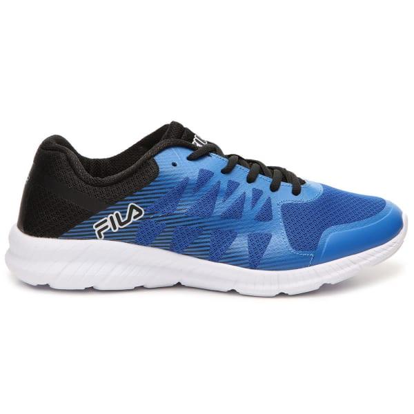 FILA Men's Memory Finity Running Shoes, RoyalBlack Bob's