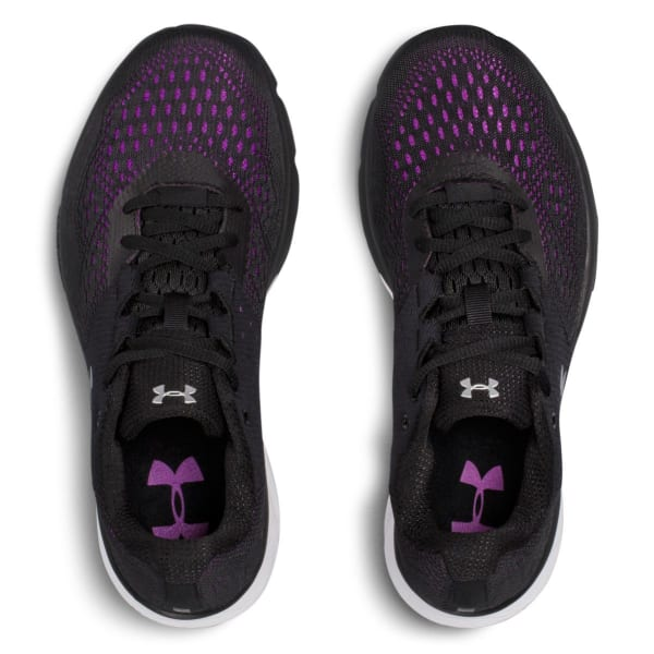 4a4644d0e2 UNDER ARMOUR Women's UA Charged Rebel Running Shoes, Black/Purple ...