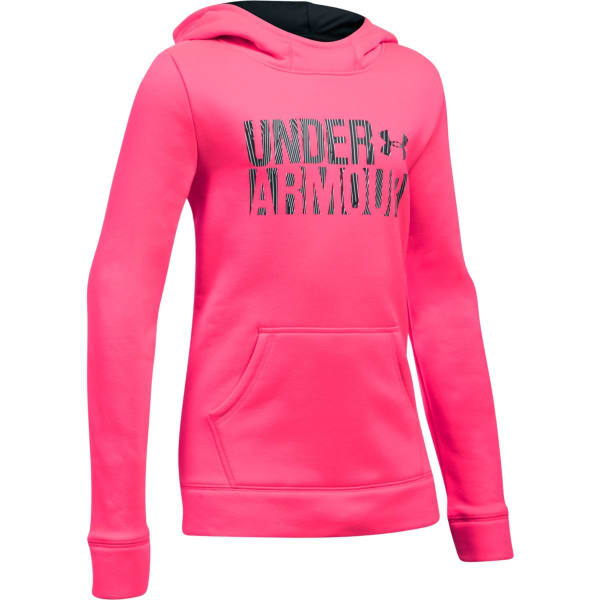ccef0824 UNDER ARMOUR Girls' Armour Fleece Wordmark Hoodie - Bob's Stores