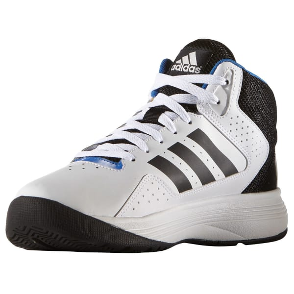 ADIDAS Men's Neo Cloudfoam Ilation Mid Basketball Shoes, White/Black/Silver