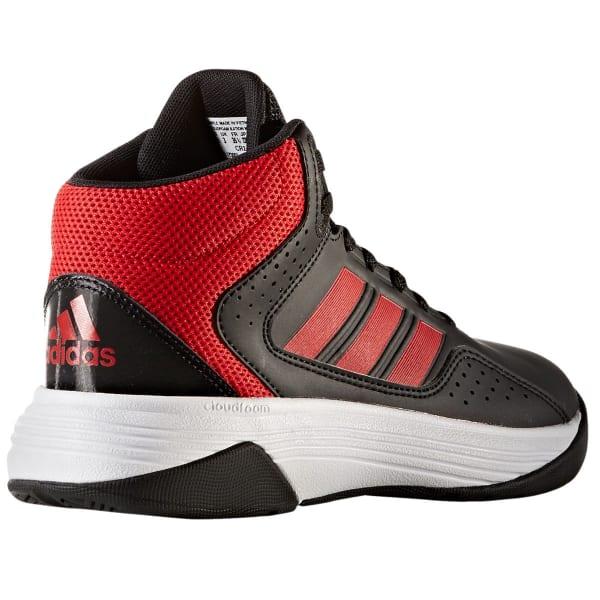 ADIDAS Boys' Cloudfoam Ilation Mid Basketball Shoes, Black/Red