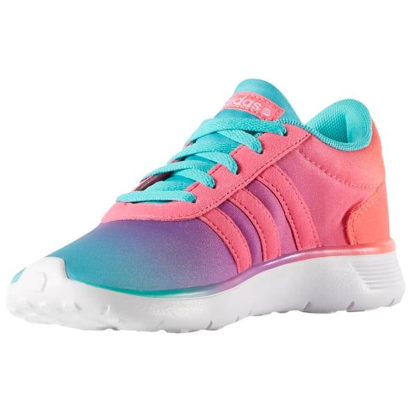 ADIDAS Girls' Neo Lite Racer K Running Shoes, Vivmin/Flash Pink/Soft Pink