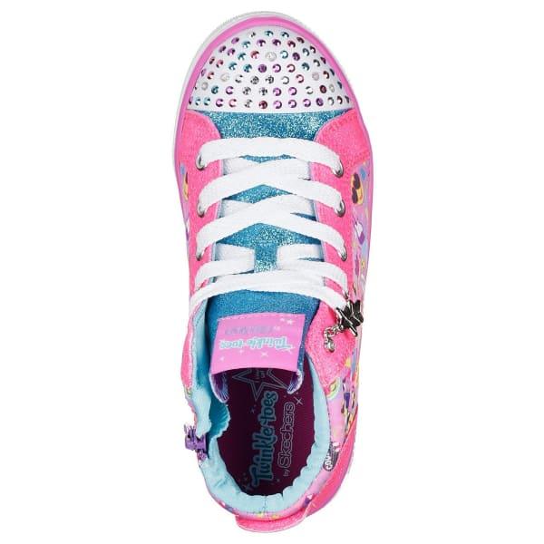SKECHERS Little Girls' Twinkle Toes: Twinkle Breeze 2 0 - Emoji Magic  Sneakers