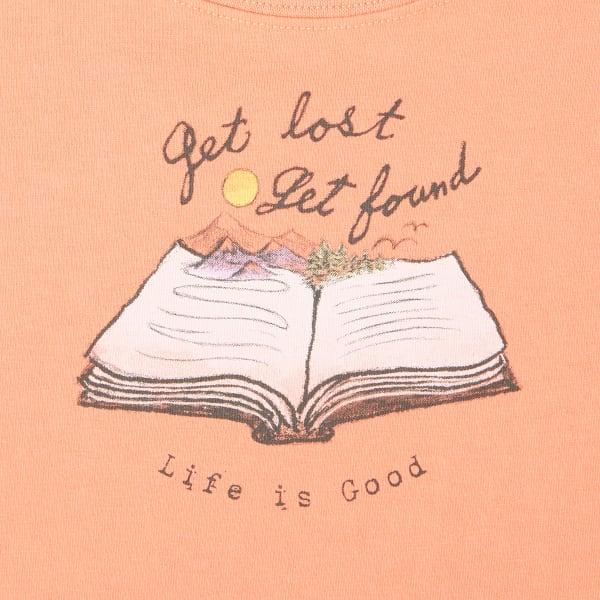 Life is Good Womens Longsleeve Crusher Scoop Get Lost Get Found
