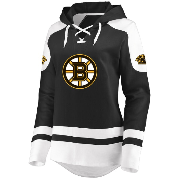 info for 1ddfb 9b32e BOSTON BRUINS Women's Centre Lace-Up Pullover Hoodie - Bob's ...