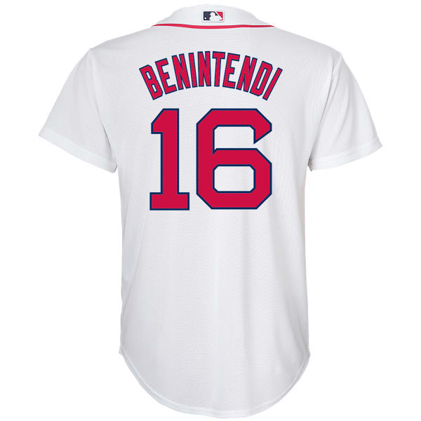 on sale bd0ac 5945e BOSTON RED SOX Big Boys' Andrew Benintendi #16 Name and Number Short-Sleeve  Jersey