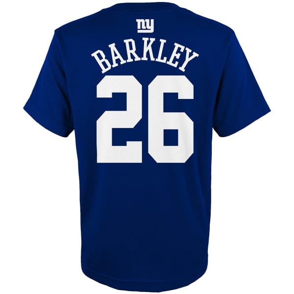 best service 2e033 a6720 NEW YORK GIANTS Big Boys' Saquon Barkley #26 Name and Number Short-Sleeve  Tee