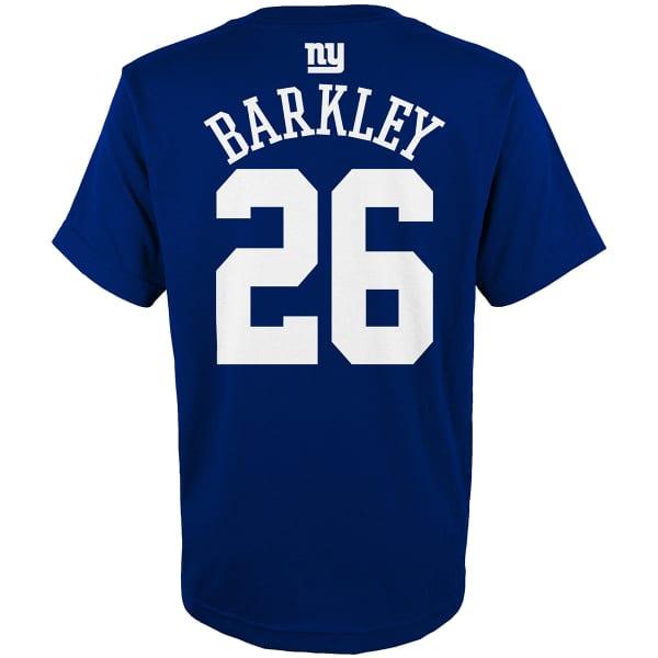 best service 5fb69 47492 NEW YORK GIANTS Big Boys' Saquon Barkley #26 Name and Number Short-Sleeve  Tee
