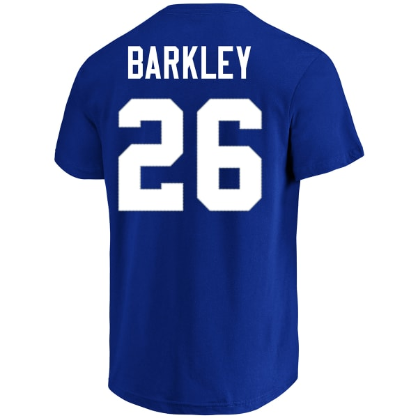 promo code b47bf 814cc NEW YORK GIANTS Men's Saquon Barkley #26 Name and Number Short-Sleeve Tee
