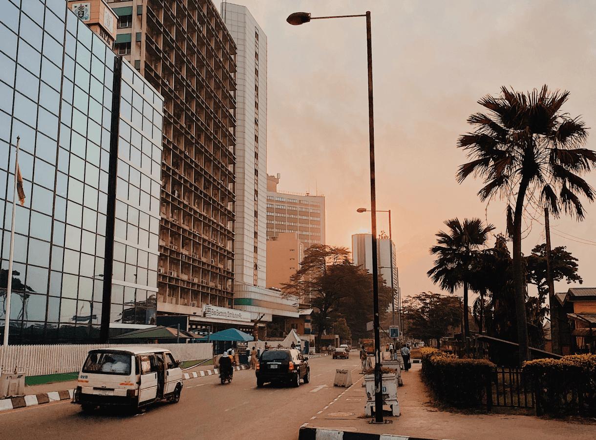 A Skyscraper on Street
