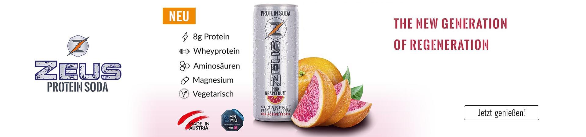 Zeus Protein Soda