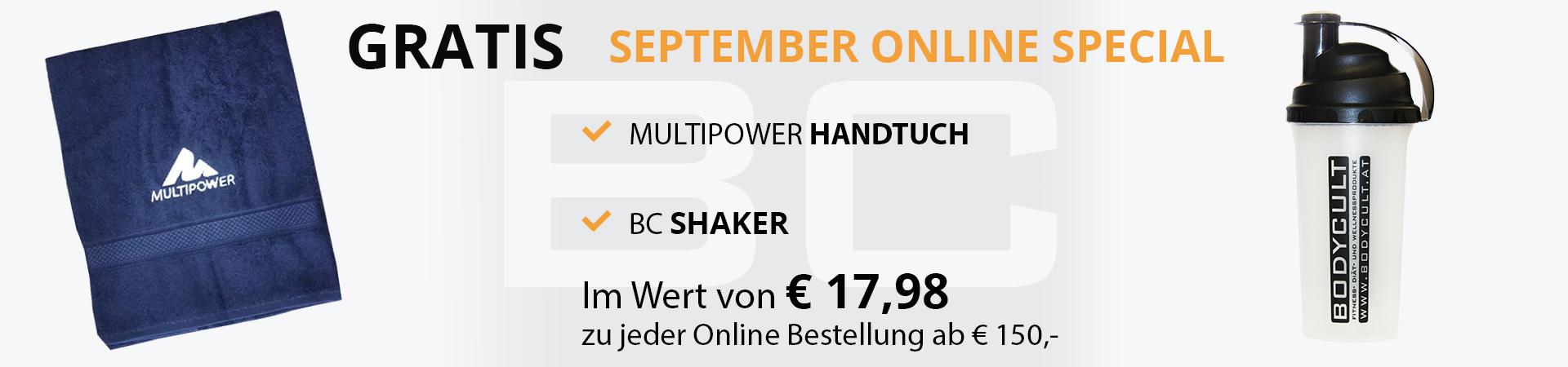 September Online Special