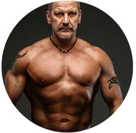 lean muscular older man