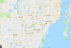 map of trt clinics in miami, fl