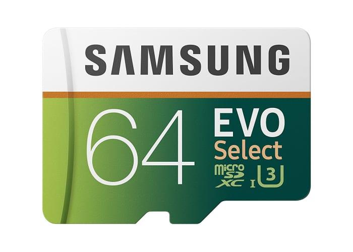 Samsung EVO MicroSD Cards 32GB, 64GB, 128GB, 256GB