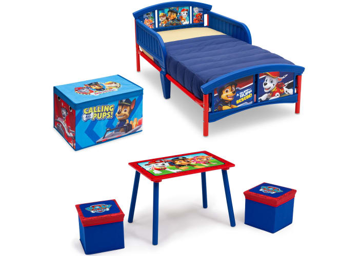 Paw Patrol 4-pc Toddler Bedroom Set + Toy Box | Book of More ...